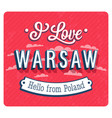 Vintage greeting card from warsaw