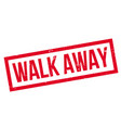 walk away rubber stamp vector image vector image