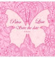Wedding invitation flowers background pink with vector image vector image