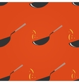 Wok restaurant Pan seamless pattern vector image