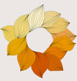 Wreath from yellow leaves Template for wedding vector image vector image