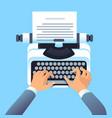 writer author write article with typewriter mans