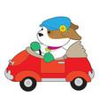 puppy car vector image