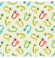 Seamless pattern with colored headphones vector image