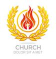 fire rescue church christ savior religion vector image