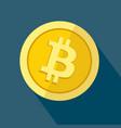 bitcoin icon as golden coin vector image