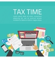 Tax time vector image