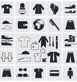 Clothes - Fashion Square Flat Icons vector image