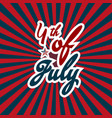 4th of july happy american independence day with vector image vector image
