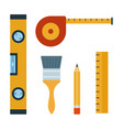 a set tools for repair and construction flat vector image