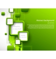 Abstract green brochure vector image vector image