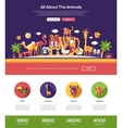 All about animals website header banner with vector image vector image