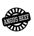 angus beef stamp in greek vector image vector image