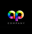 ap a p alphabet letter mosaic design vector image vector image