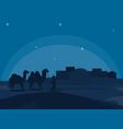 arab town at night vector image