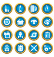 auto repair icons set simple style vector image