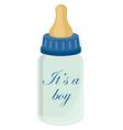 babottle for boy vector image vector image