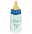 Baby bottle for boy vector image vector image