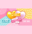 balloons letters sale on colored background vector image vector image