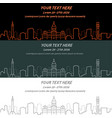 baltimore event banner hand drawn skyline vector image vector image