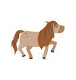 beautiful brown horse pony on vector image vector image