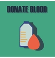 Blood donation medicine help hospital save life vector image