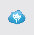 Blue cloud theater icon vector image vector image