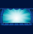 blue theater curtain theater opera or vector image vector image