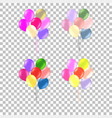 bunch of colorful helium balloons isolated on vector image