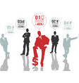 businessman concept options 2 red vector image vector image