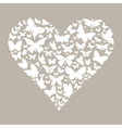 Butterfly heart vector image vector image