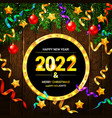 christmas and new year wishes on card vector image vector image