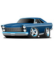 classic sixties style big american muscle car vector image vector image