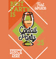 color vintage cocktail party banner vector image