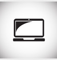 computer pc on white background vector image