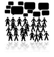 Crowd talk vector image vector image