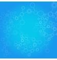 Design science concept molecule background vector image vector image