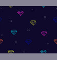 diamond seamless pattern background with neon vector image vector image