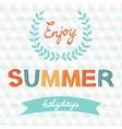 Enjoy summer typography vector image vector image