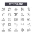 event line icons signs set outline vector image vector image