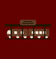 flat icon in shading style train station vector image