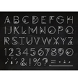 Font Flat chalk vector image vector image