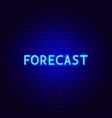 forecast neon text vector image