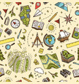 geography symbols seamless pattern equipments vector image vector image