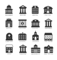 Government building icon set buildings like vector image vector image