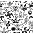 graphic collection of all-seeing eyes vector image vector image