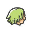guy with dreadlocks icon cartoon vector image