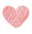 heart love red icon vector image vector image