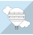 Hot air balloon graphic vector image vector image