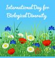 international day for biological diversity sky vector image vector image